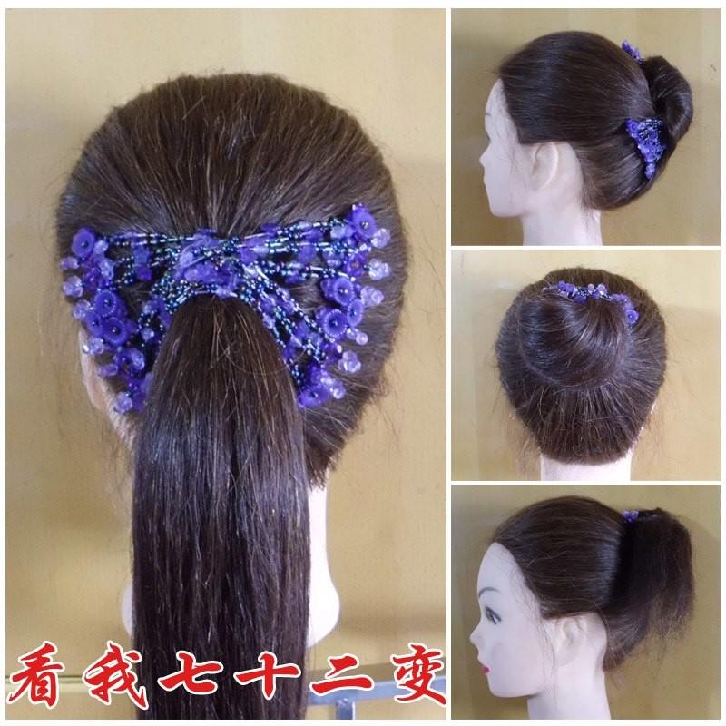韩国扎头发头绳发圈橡皮筋清新水钻球发绳淑女马尾皮套成人头饰品图片