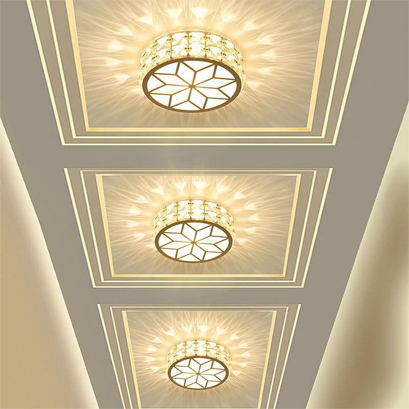 时尚led吸顶灯 卧室过道阳台面包灯 厨房卫生间圆灯节能