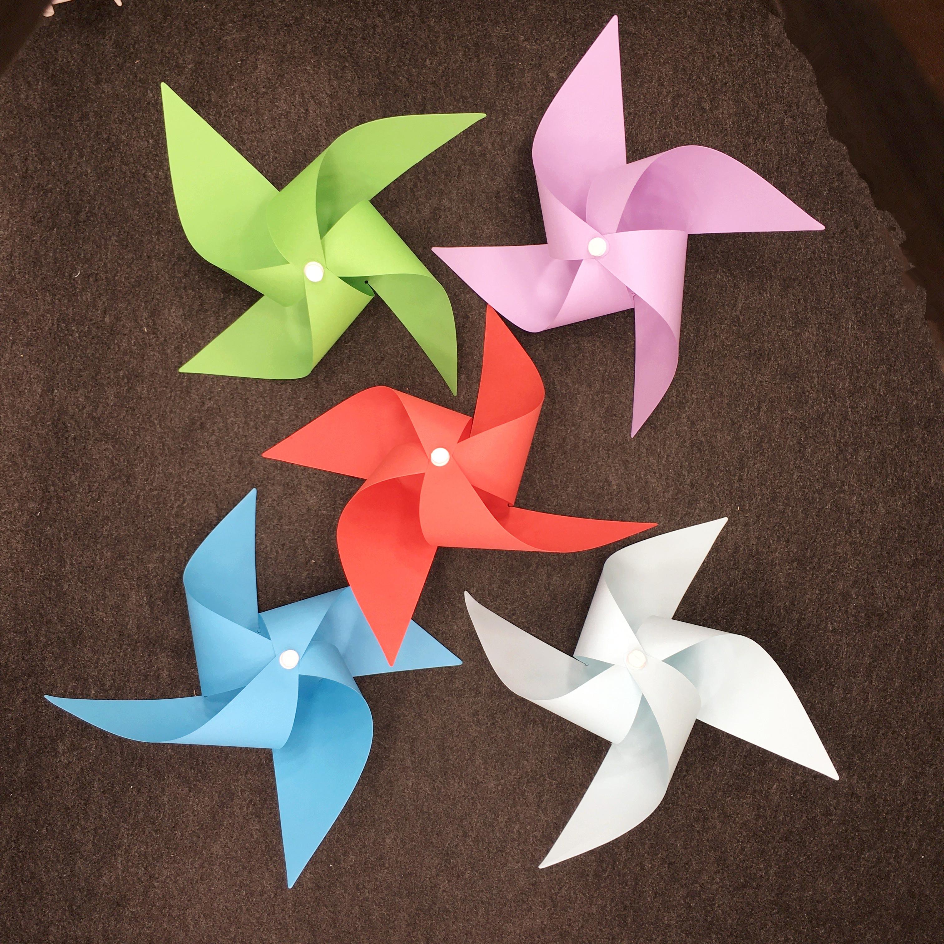 手工紙藝折紙制作材料包兒童學生禮物禮品diy風車圖片