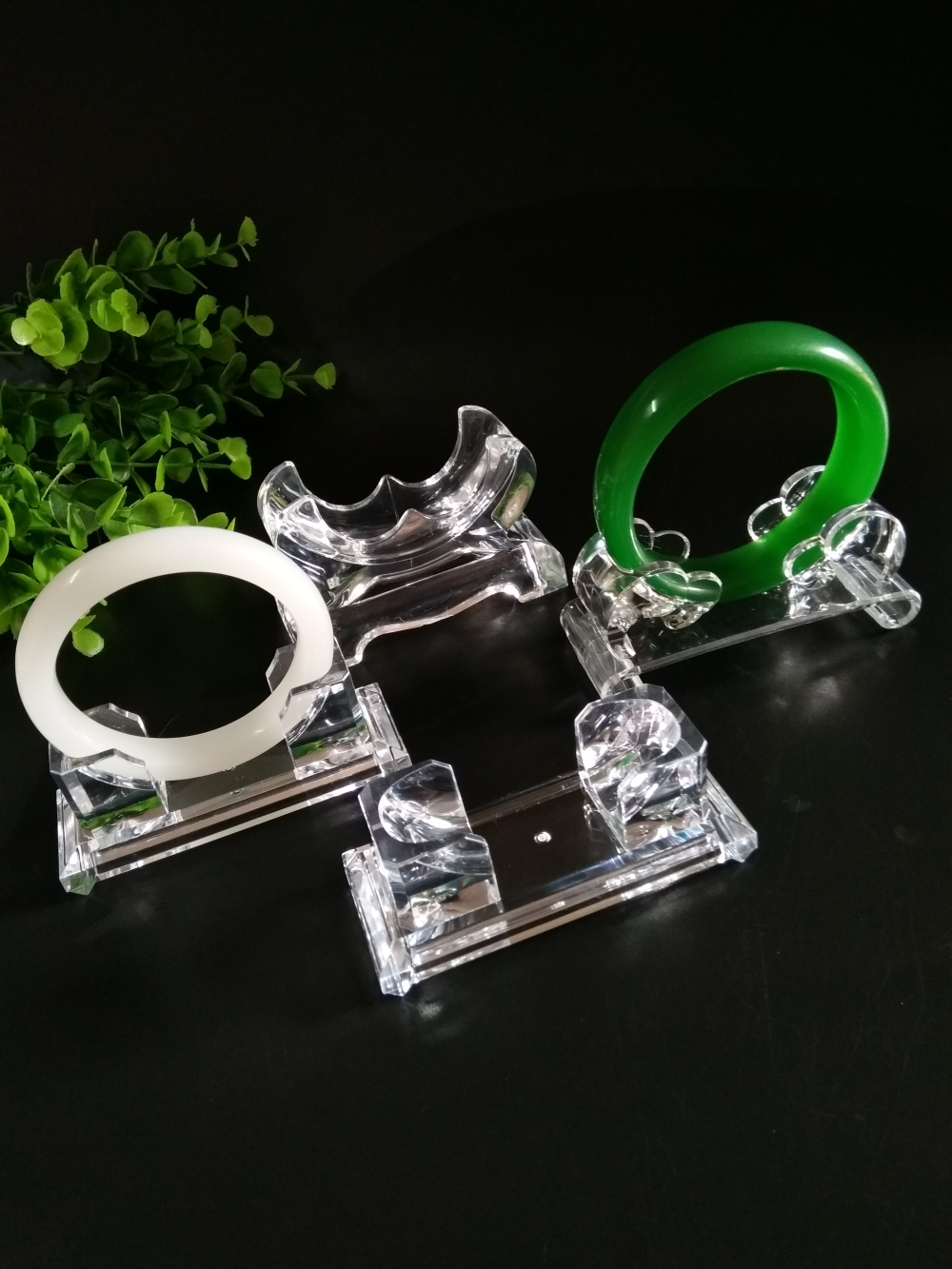 手镯展示架透明亚克力翡翠珠宝首饰架玉器手链手串展示道具托底座