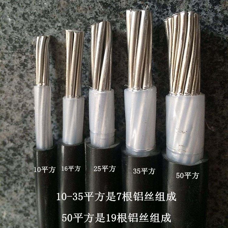 国标铝芯地埋线10/16/25/35/50平方 单芯铝线 单根地埋专用电缆线