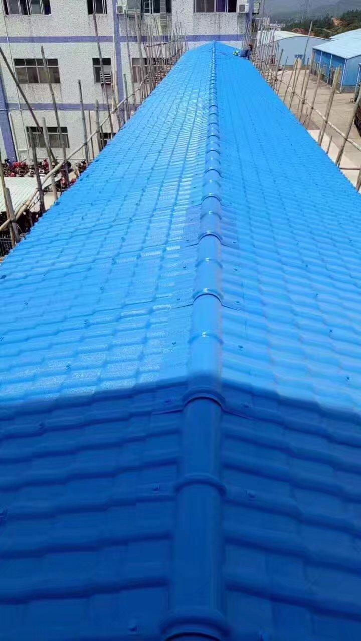 合成树脂屋面瓦 树脂仿古瓦 树脂琉璃瓦 屋面瓦 天蓝色