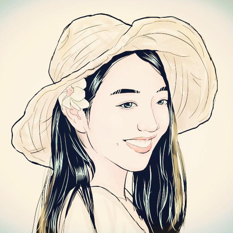 肖像漫画q真人彩色黑白照片人物转手绘定制代画素描头像情侣卡通图片