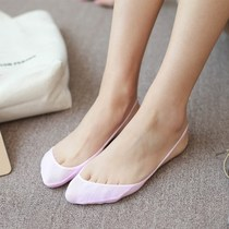 Boat socks Girl Slim Invisible �| forefoot sock half cotton