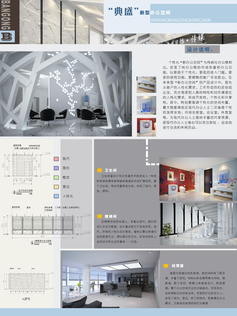 环艺室内园林景观建筑专业学生毕业设计展板排版设计/psd/cdr模板图片
