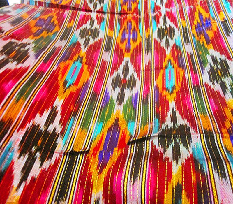 乌孜别克布料乌孜别克族特色真丝艾德莱斯绸布宽幅50cm装饰
