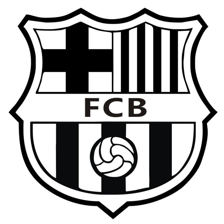 热卖kucar巴萨车贴车身贴玻璃巴塞罗那队队徽拉花装饰欧冠球队梅西
