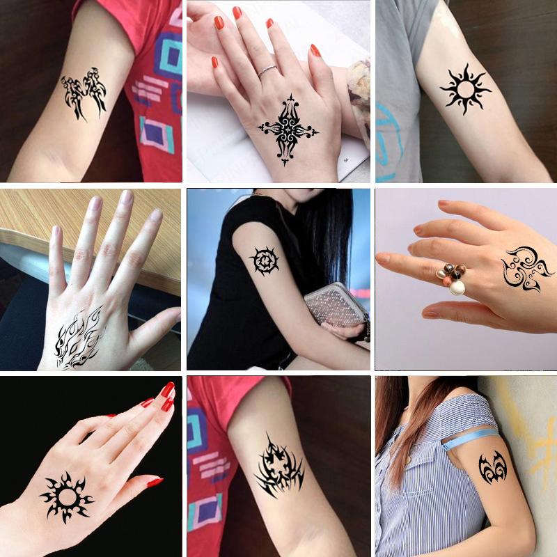 热卖纹身贴防水女仿真持久性感小清新玫瑰花逼真花臂遮痕可爱韩国贴纸
