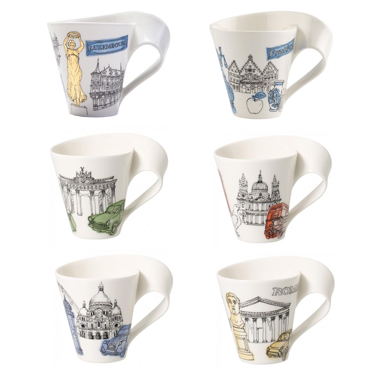 villeroyboch德国唯宝时尚杯浪马克杯创意咖啡杯家用水杯礼盒套装