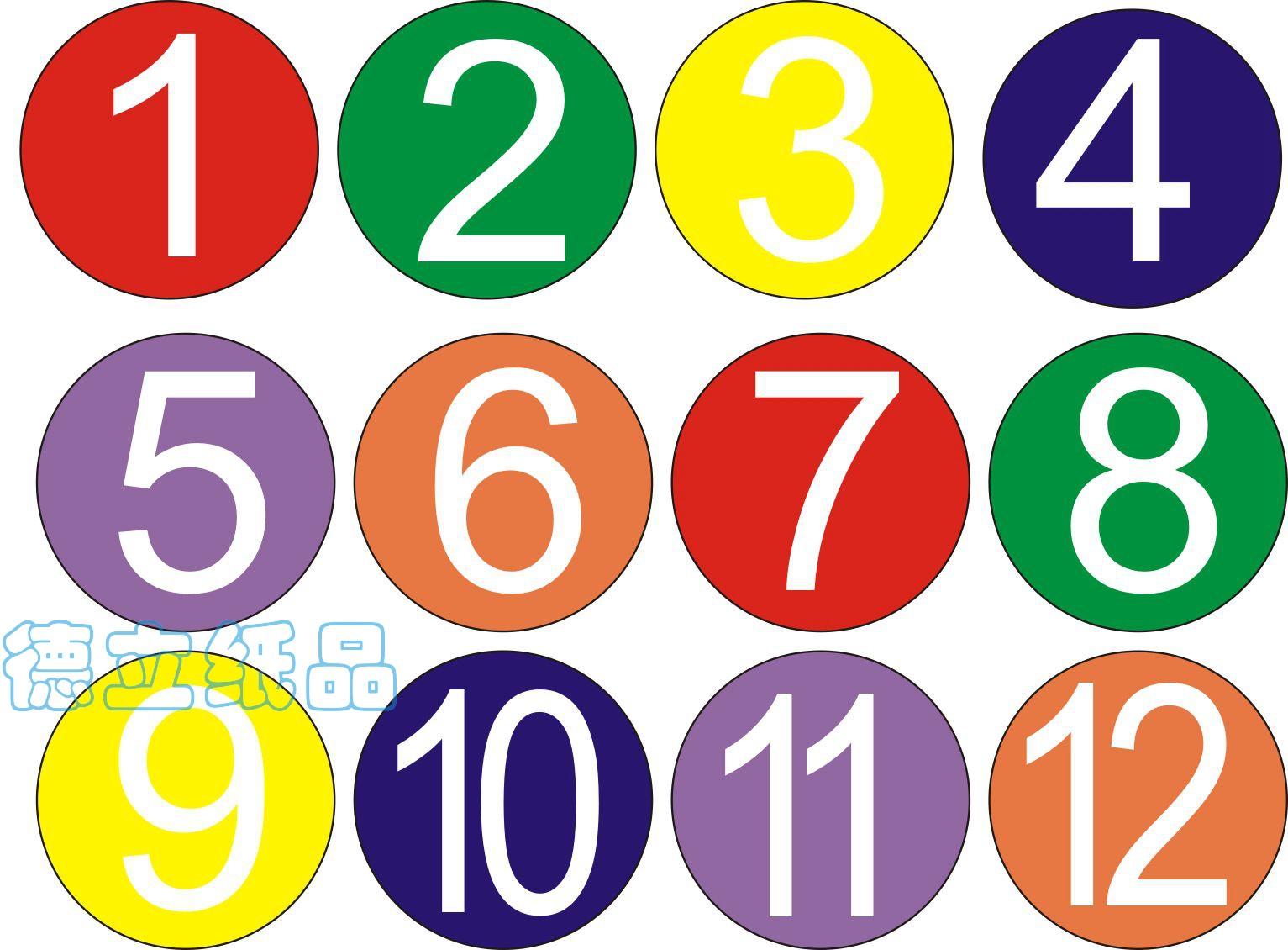厂家直销40mm彩色数字1-12不干胶标签纸颜色分类月份贴活动桌编号