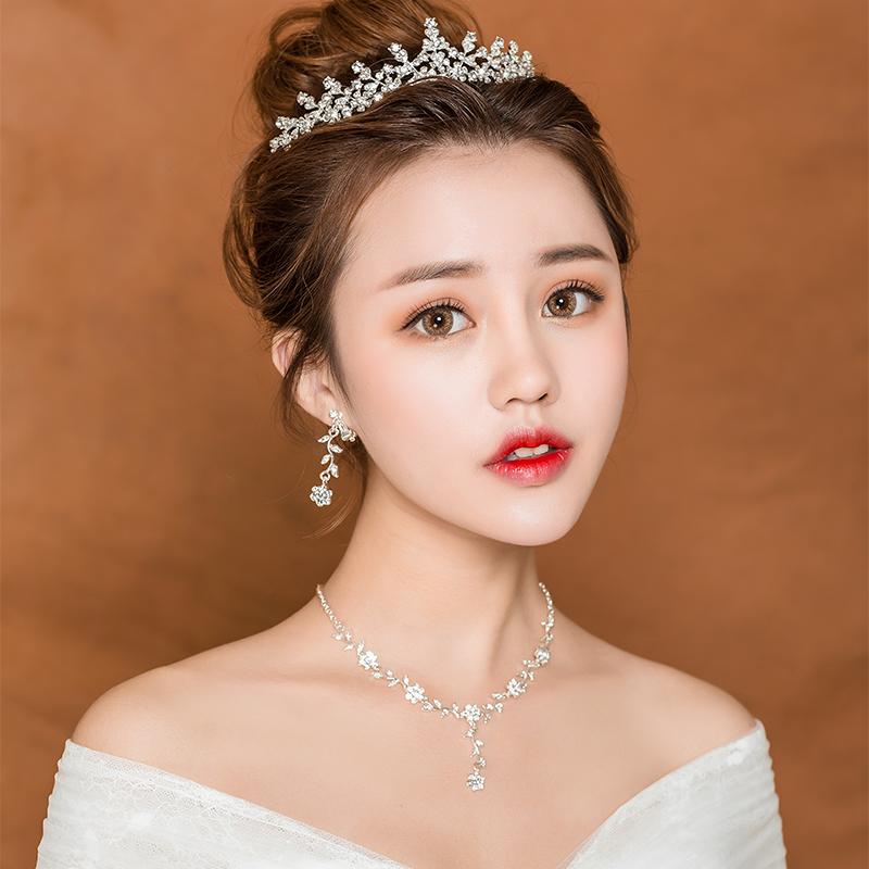 2018新款结婚皇冠头饰大气新娘王冠奢华生日派对婚纱