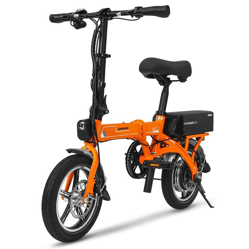 热卖捷马折叠电动自行车成人男女式超轻便携小型代驾宝长跑王锂电瓶车图片