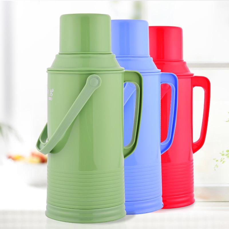 热卖2升热水瓶内胆保温家用不锈钢外壳保暖壶皮茶瓶玻璃瓶水壶开水