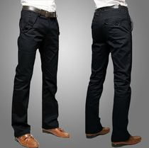 ��Korean Men\'s Casual High Quality Cotton Straight Trousers