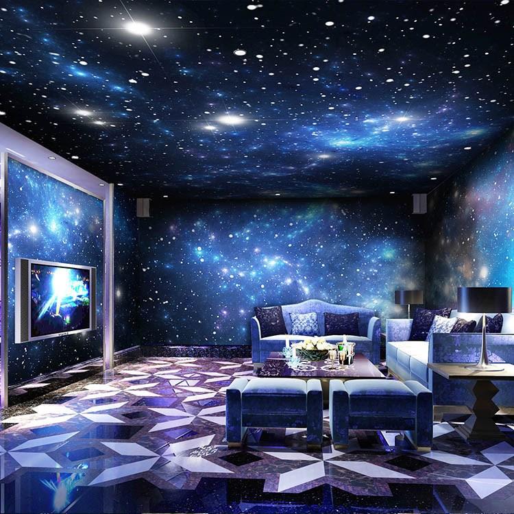 diy定制ktv包厢背景墙星空墙纸壁画酒吧主题酒店宾馆网吧网咖壁纸图片