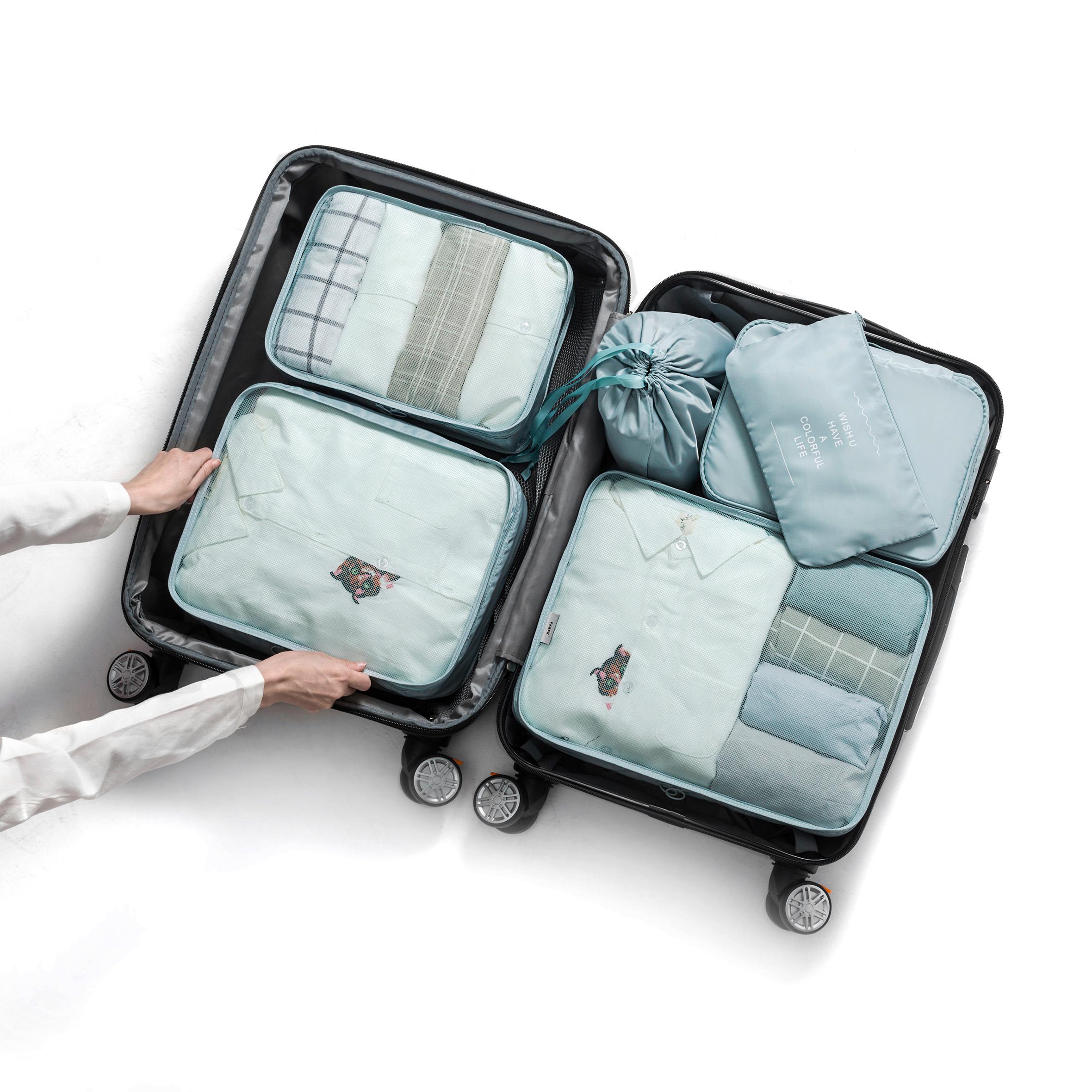 2018新款韩版旅行收纳袋旅游多功能加厚行李箱收纳包袋套装图片