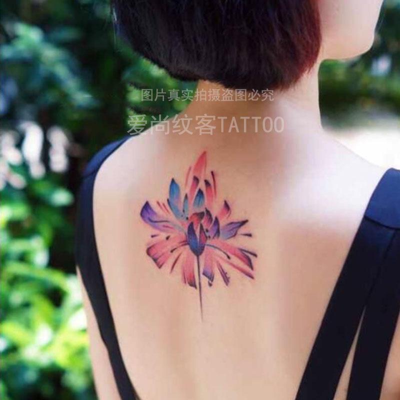 热卖爱尚纹客纹身贴-后颈纹身贴 小清新纹身贴 个性时尚纹身刺青 防水