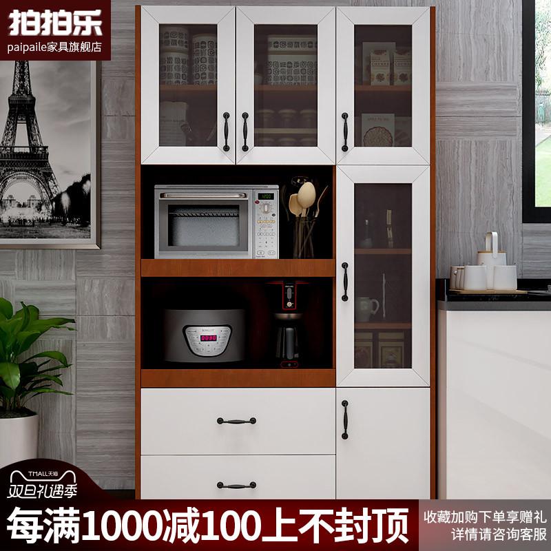 定制餐边柜北欧茶水柜家用微波炉柜厨房橱柜简约现代储物柜置物柜图片
