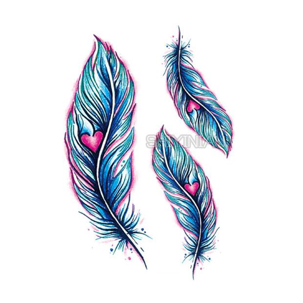 10元包邮美人鱼花臂纹身贴人鱼公主蝴蝶天使防水男女彩色纹身贴图片