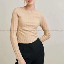 瑞典北欧小众TotemeTour* 太显瘦~真丝羊绒气质性感平行V领针织衫