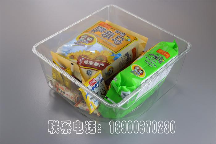 【食品陈列盒】超市散货零食方形果冻糖果盒pet透明糖果展示盒图片