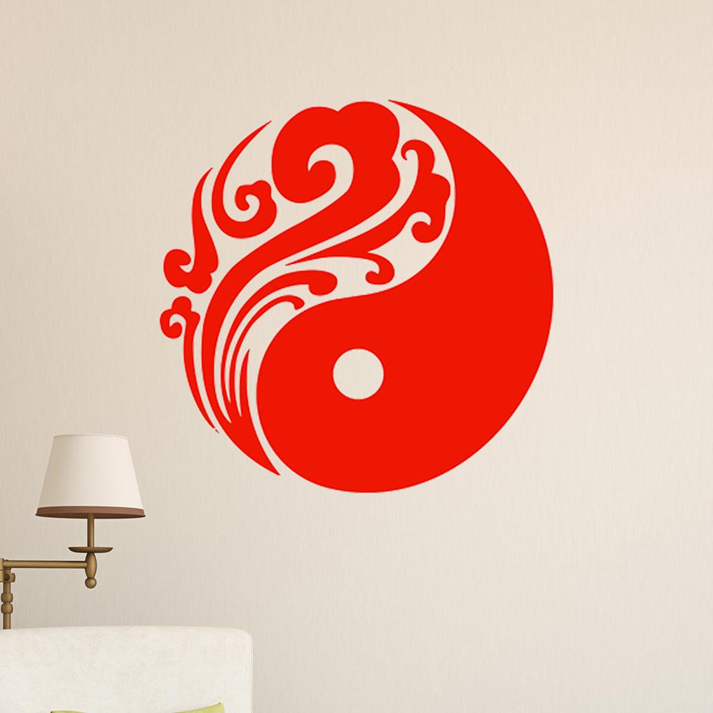 中国龙图腾墙贴纸古典 中式客厅书房客厅背景装饰贴画