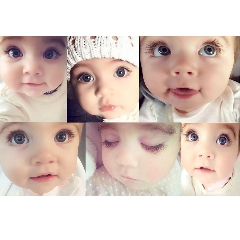 热卖漂亮澳洲大眼宝宝逆天睫毛海报可爱女宝宝萌娃图片孕妇早教墙贴