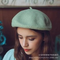 100 � wool beret female autumn winter buds joker painter ha