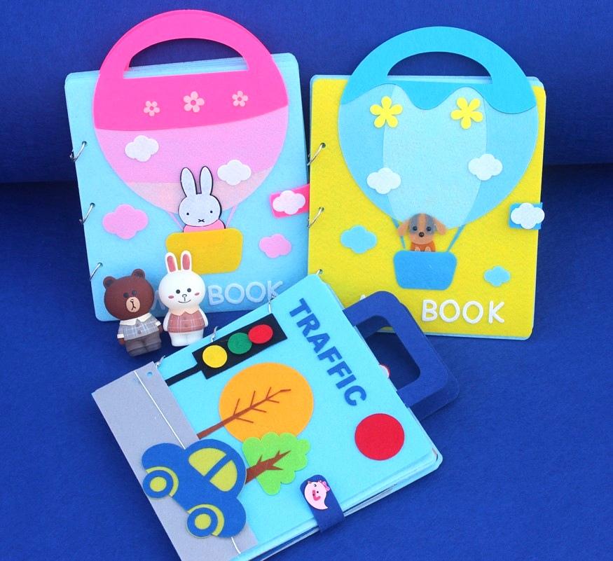 热卖不织布书自制绘本diy故事图书 宝宝儿童幼儿园手工制作亲子材料包