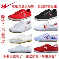 正品专业双星武术鞋排球鞋太极男练功儿童女帆布训练跑步运动跑鞋