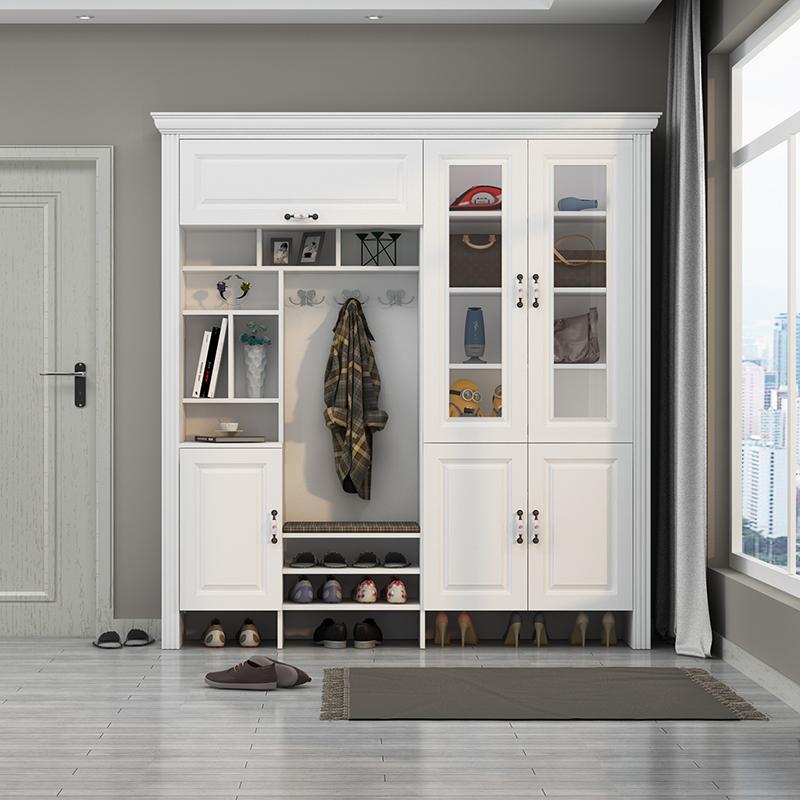 入户门厅柜现代简约进门衣帽柜大容量客厅门口带镜子
