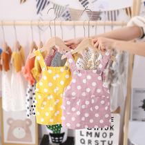 女宝宝0-1-2-3-4岁夏季圆点薄款背带裙婴幼儿裙子2019新款韩版潮