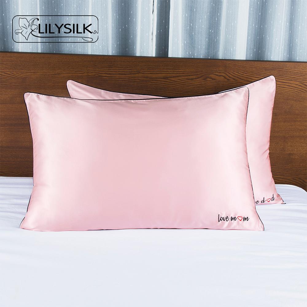 热卖lilysilk全桑蚕丝枕套真丝重磅丝绸枕头套22姆米信封开口包邮春季