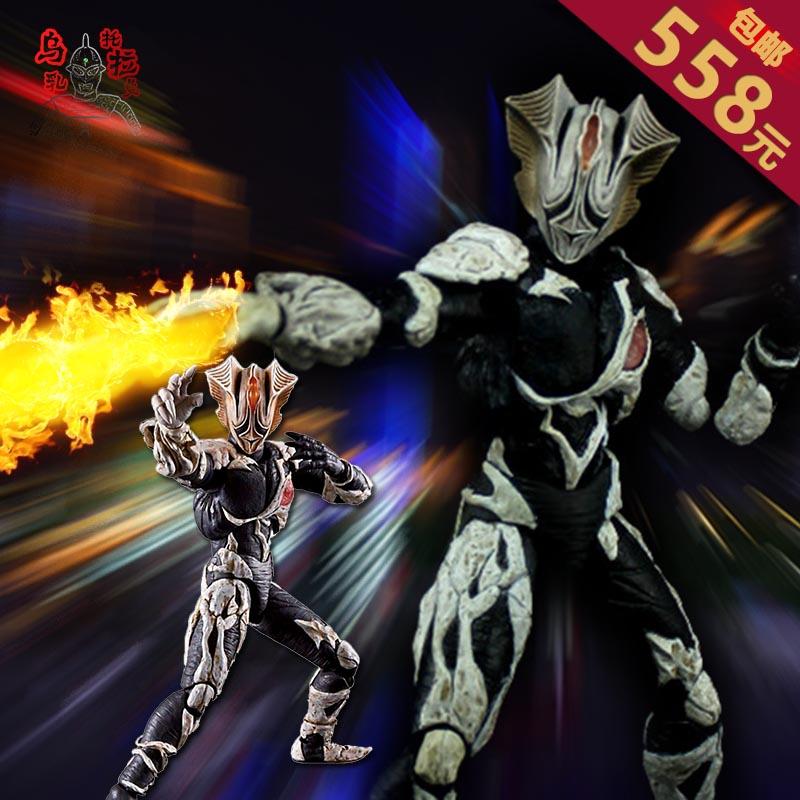 万代ultra act 迪迦奥特曼玩具 怪兽模型 基里艾洛德人 炎魔战士
