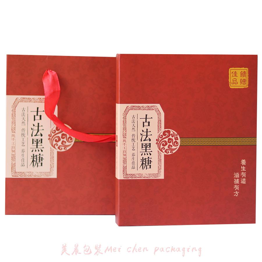 古法黑糖包装盒礼盒 黑糖高档包装礼盒 红糖包装盒花糖礼品盒批发图片