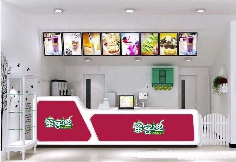 小确茶奶茶店吧台收银台小吃店咖啡厅水果店吧台西餐店麦当劳吧台图片