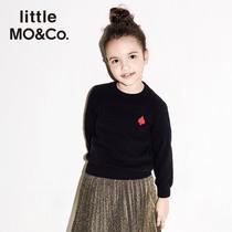 littlemoco童装儿童毛衣意大利进口纯羊毛衫女套头针织打底衫