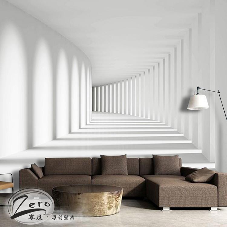 热卖北欧风格木头纹理简约现代客厅电视背景墙民宿个性墙纸复古壁纸图片