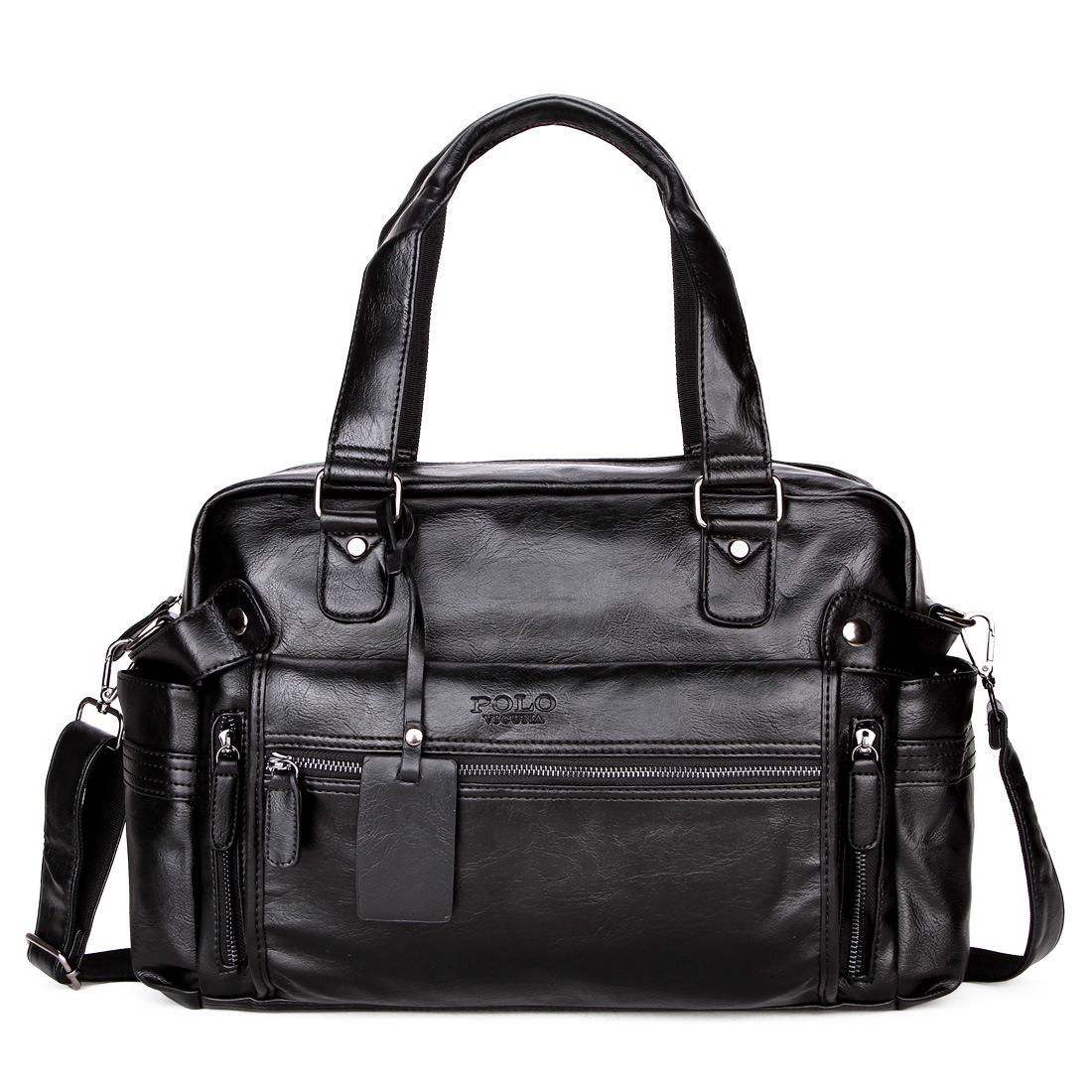 年轻人手提皮包休闲男士手提旅行包行李包行李袋男包大容量多隔层