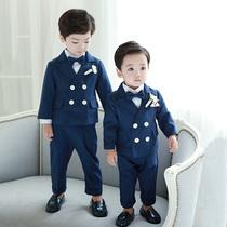 新款儿童西装套装三件套男童礼服男宝宝小西服帅气英伦演出服中童