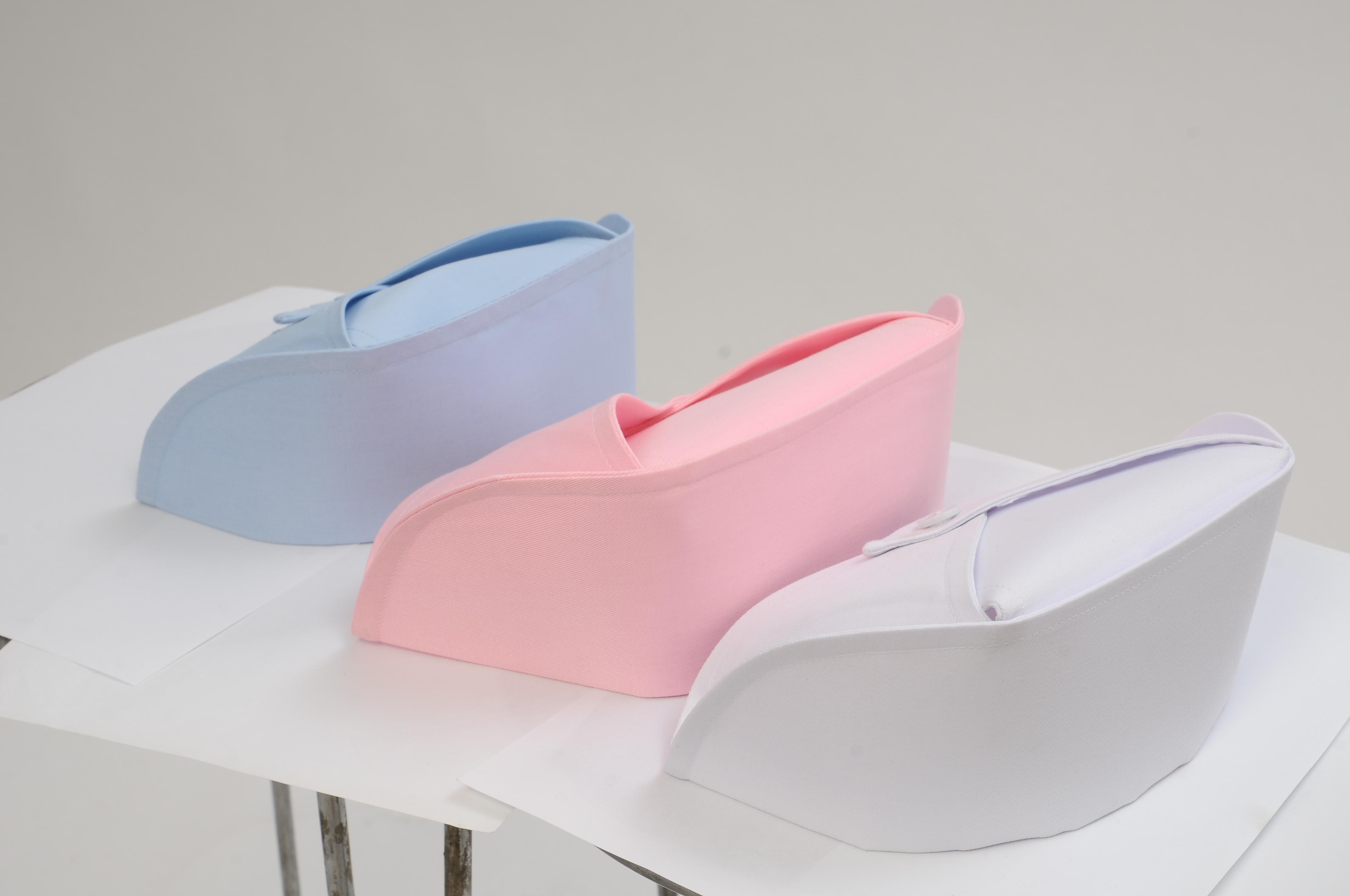护士帽_护士帽白色加厚硬挺燕尾帽粉色蓝色夏季薄款帽子医院诊所职业帽子