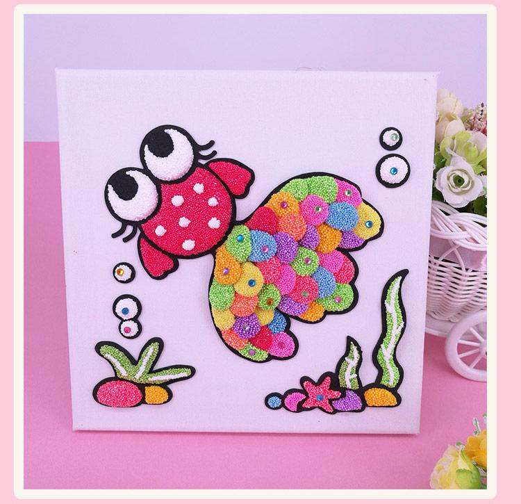 趣味油画 eva儿童雪花泥超轻粘土画板 益智diy创意手工玩具图片