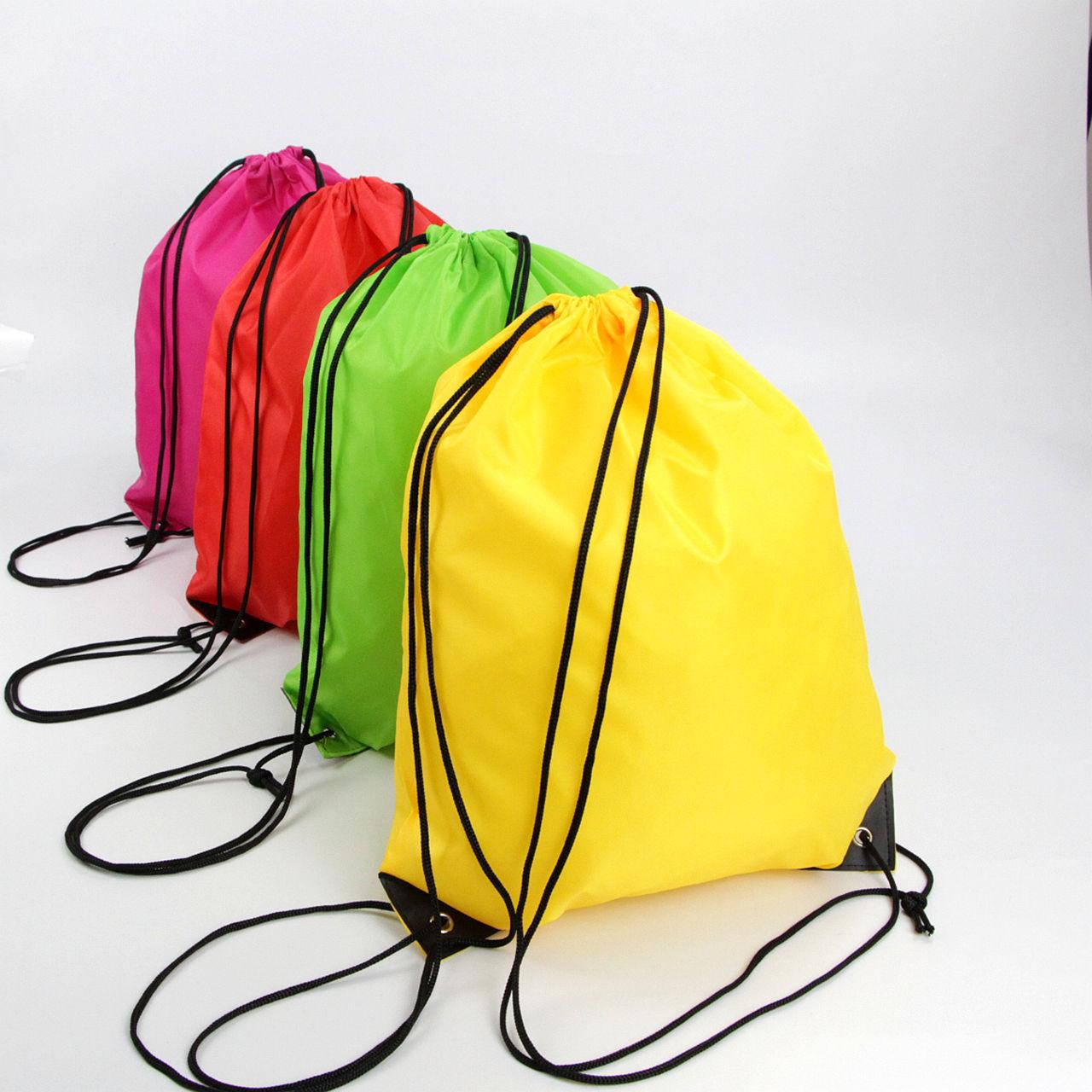 庆烨制袋 定制印刷束口袋拉抽绳帆布双肩包学生书包