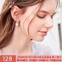 三彩2019夏季 爱心水钻小巧珍珠耳钉简约小众气质耳环D925506S00