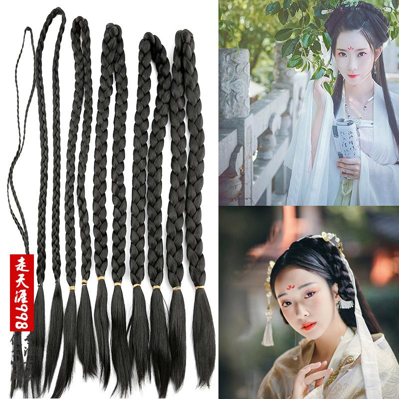 古装假发演出汉服牛角月牙发包垫发包 影楼新娘秀和造型垫发发包