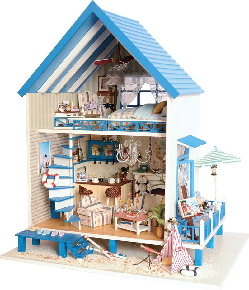 包邮diy小屋浪漫爱琴海大型别墅手工拼装模型房 男友女生生日礼物