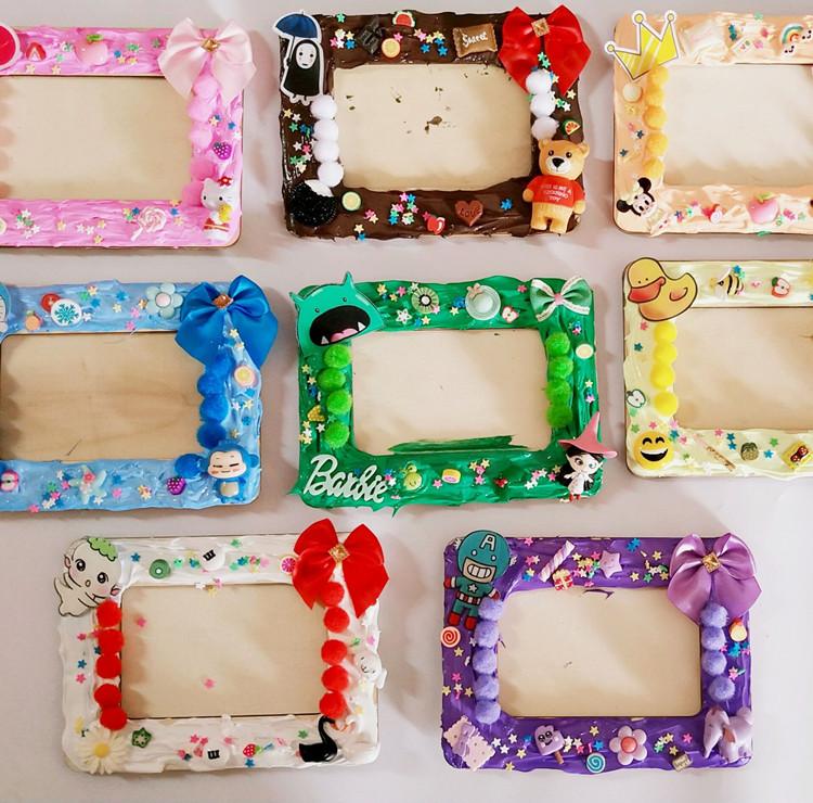 儿童diy手工奶油土卡通相框材料包幼儿园制作粘土装饰
