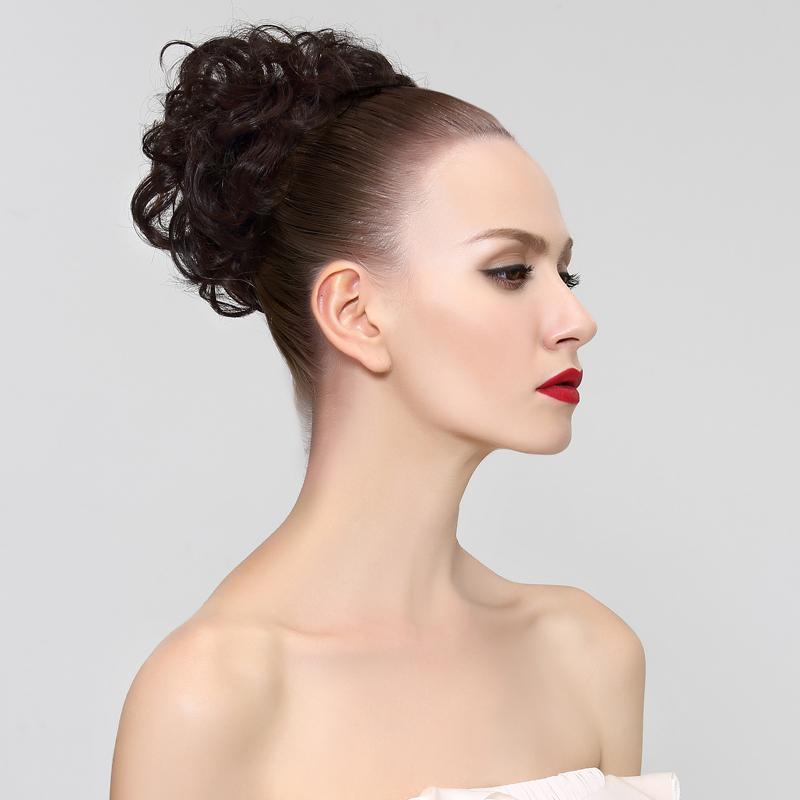 瑞贝卡假发头饰发包丸子头假发包仿真女假发发圈盘发蓬松盘头发包