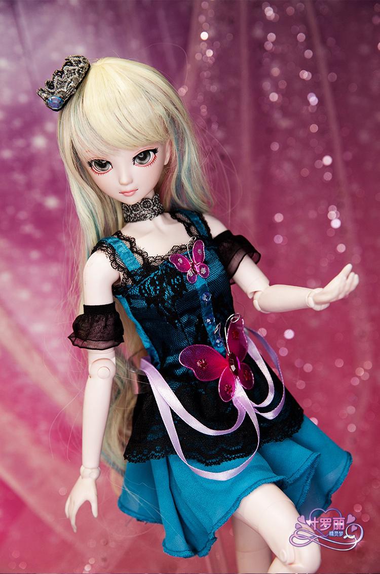 新款叶罗丽换妆娃娃夜萝莉仙子50厘米白光莹换妆娃娃女孩生日礼图片