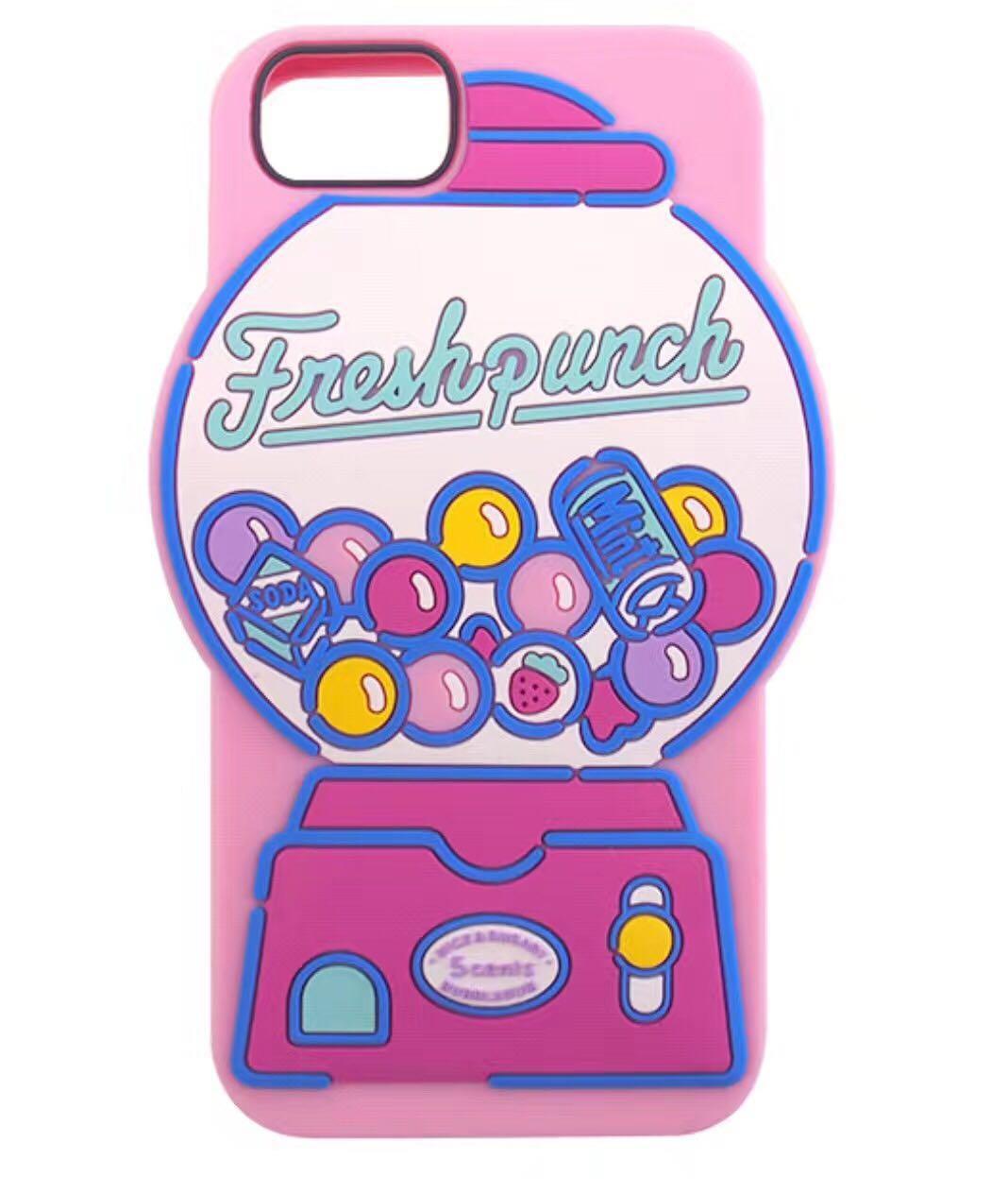 可爱粉色扭蛋机卡通硅胶iphone7plus手机壳苹果6s/6p防摔硅胶软套图片